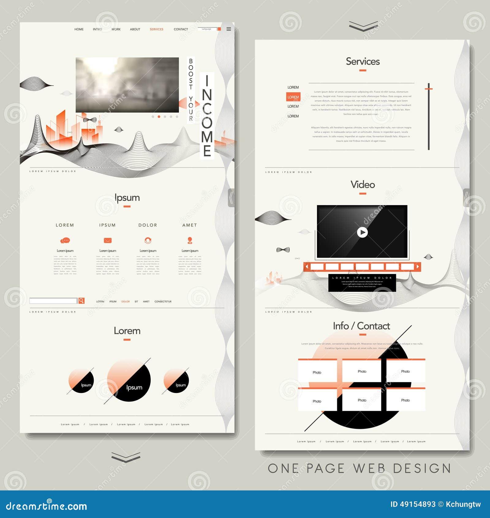 1 page web design