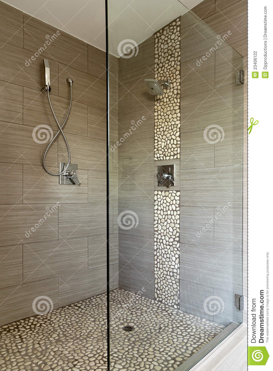 Contemporary Shower Contemporary Shower With Dual Heads Stock Photography Image