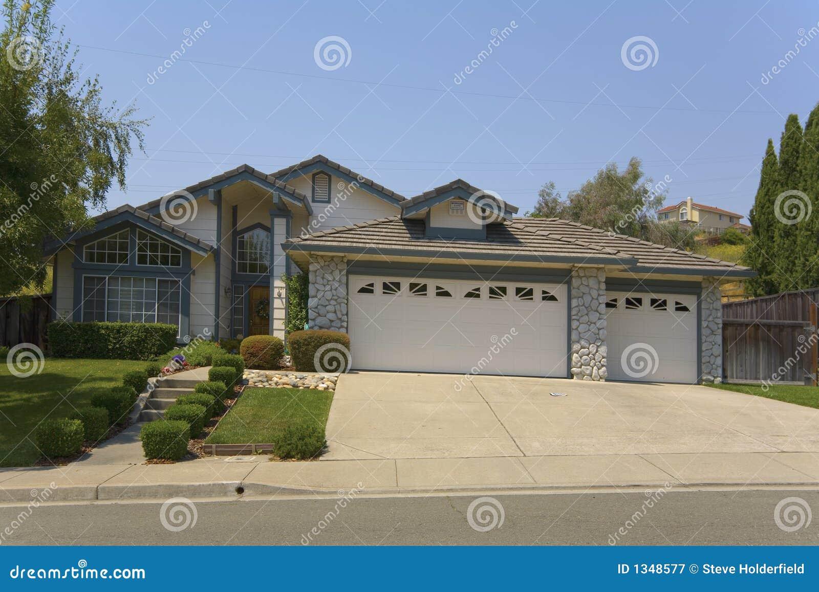contemporary single story home stock image image of bricks