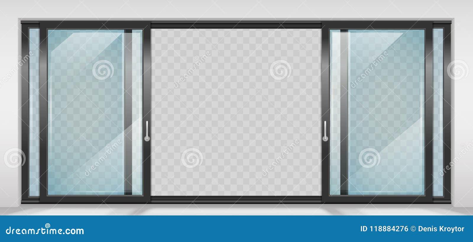Contemporary Sliding Door Stock Vector Illustration Of Background