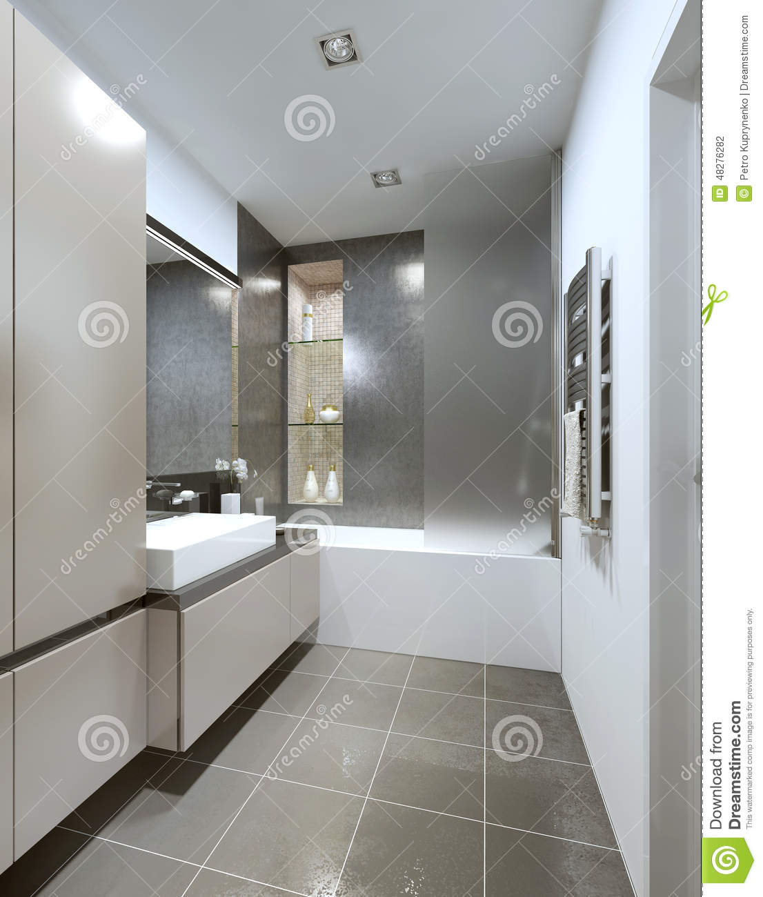 Contemporary style bathroom royalty free stock photo for Bathroom fashion