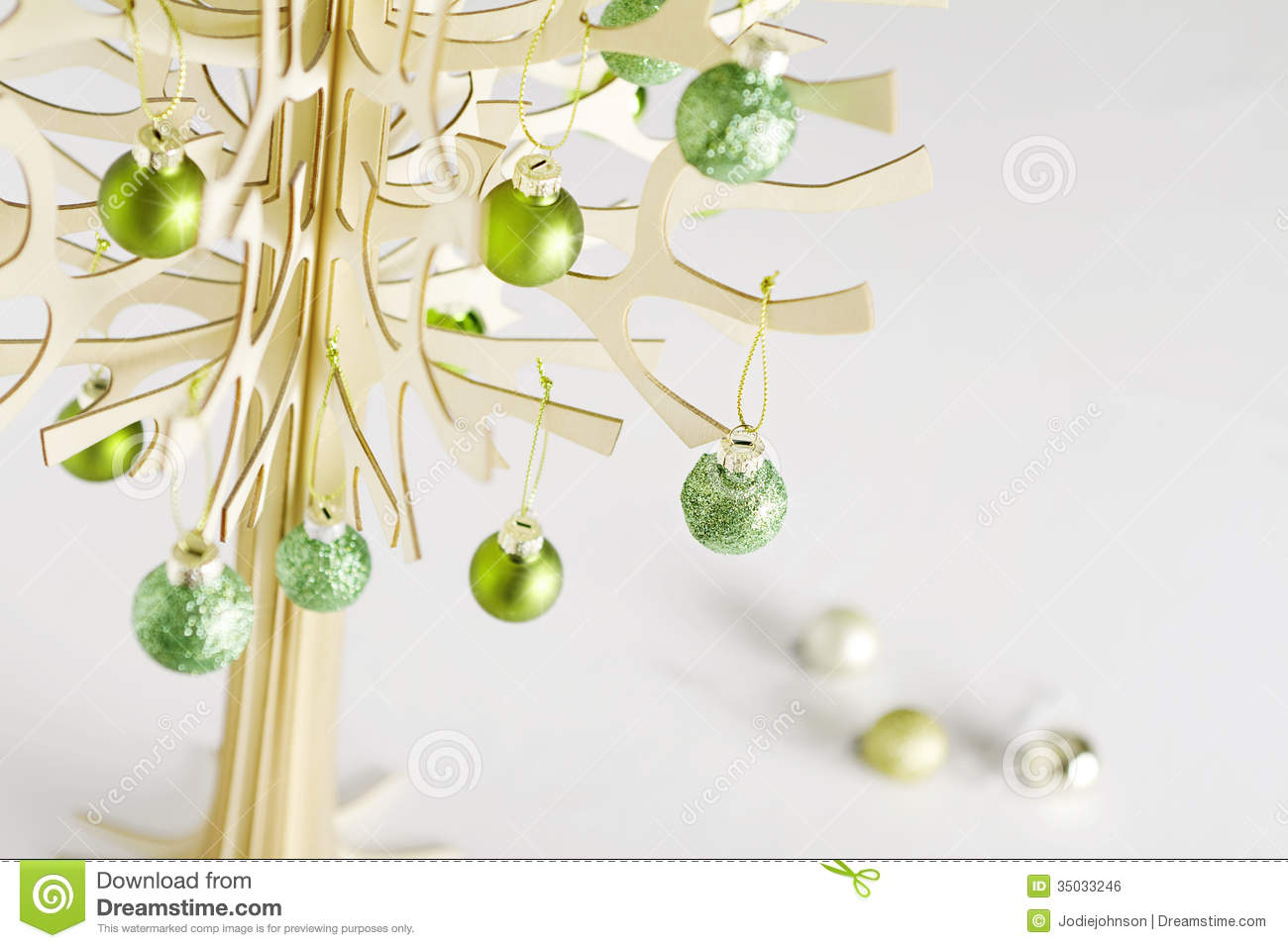 Contemporary Stylized Christmas Tree Horiztonal Royalty Free Stock Image Image 35033246