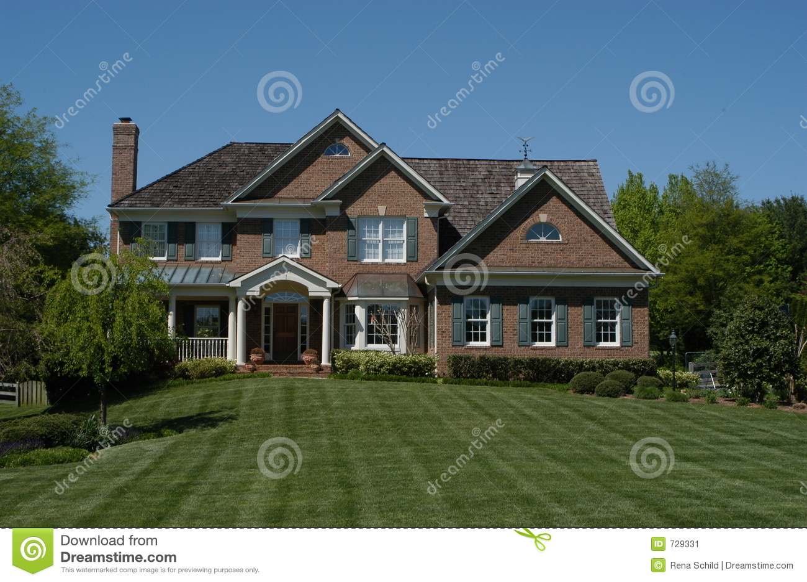 Contemporary Suburban House Stock Image Image 729331