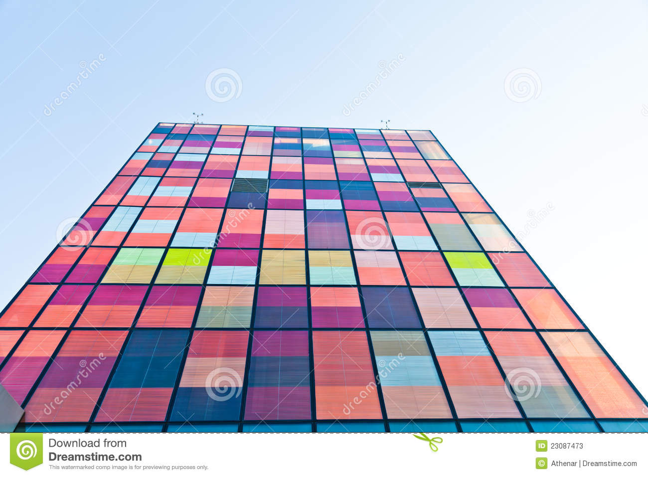 Download Contemporary Urban  Colorful Architecture Stock Image - Image of steel, design: 23087473