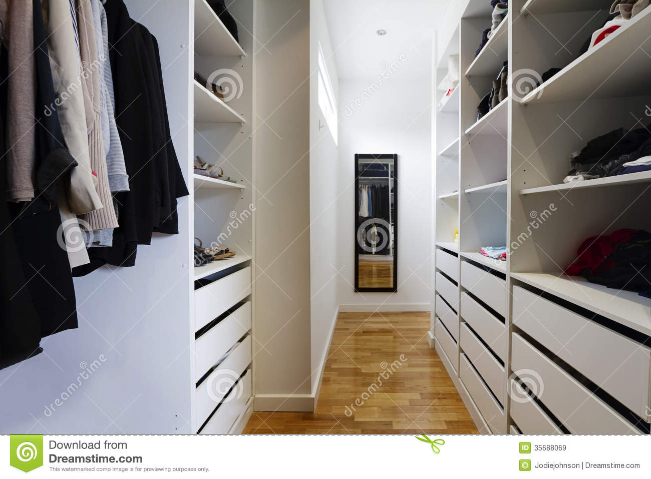 Contemporary Walk In Wardrobe Royalty Free Stock Images - Image ...