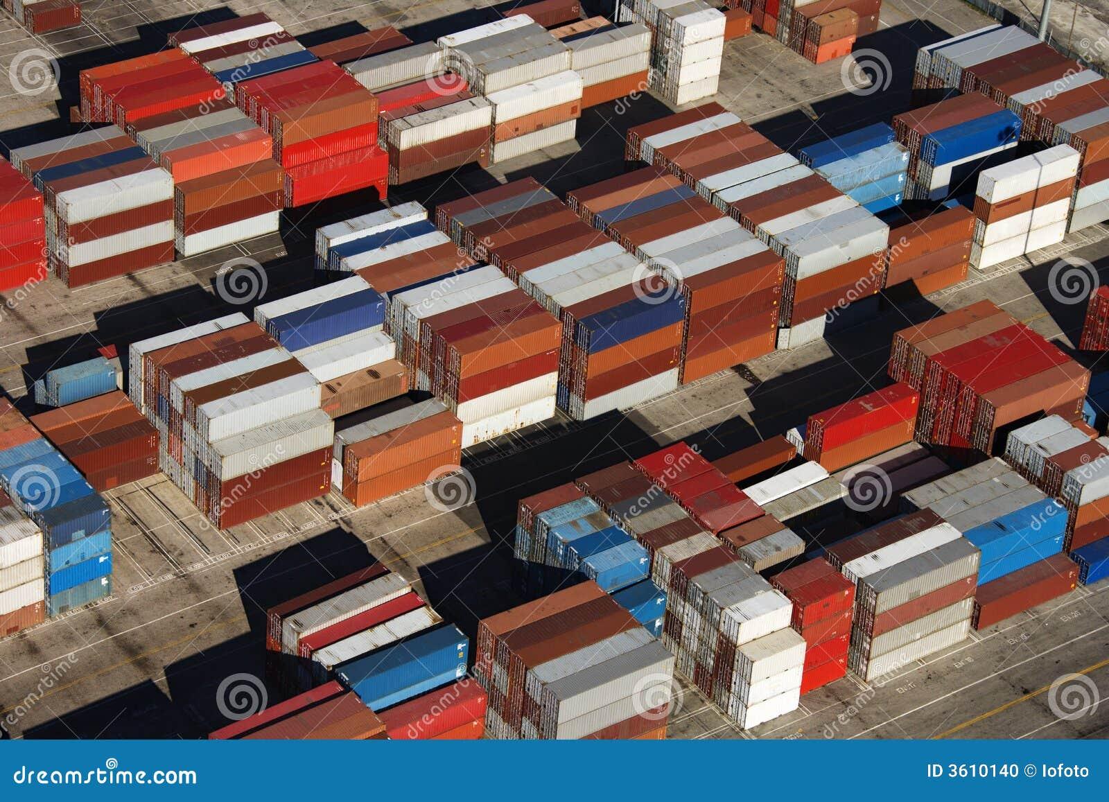 Contenedores para mercancías.