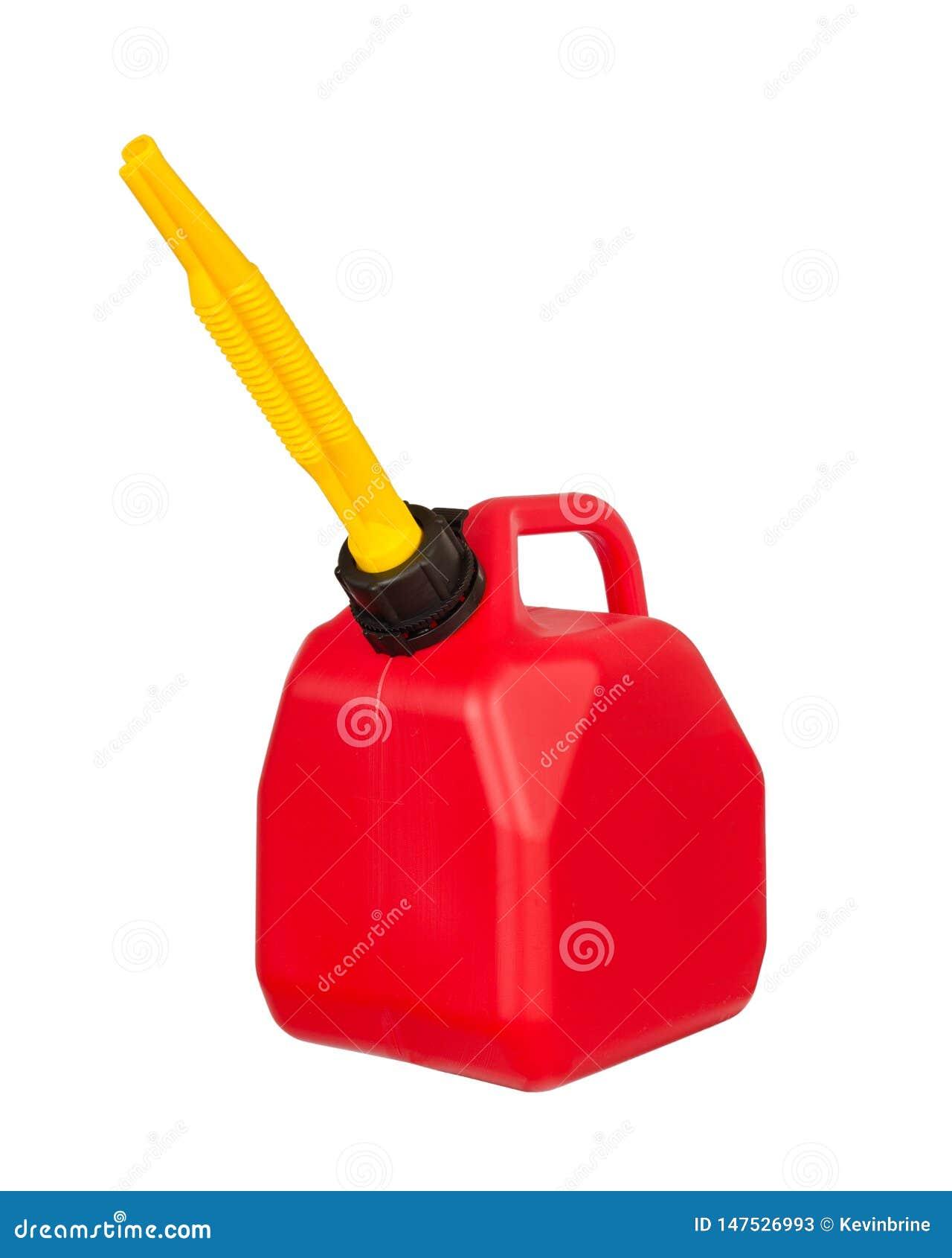 Conteneur rouge de carburant