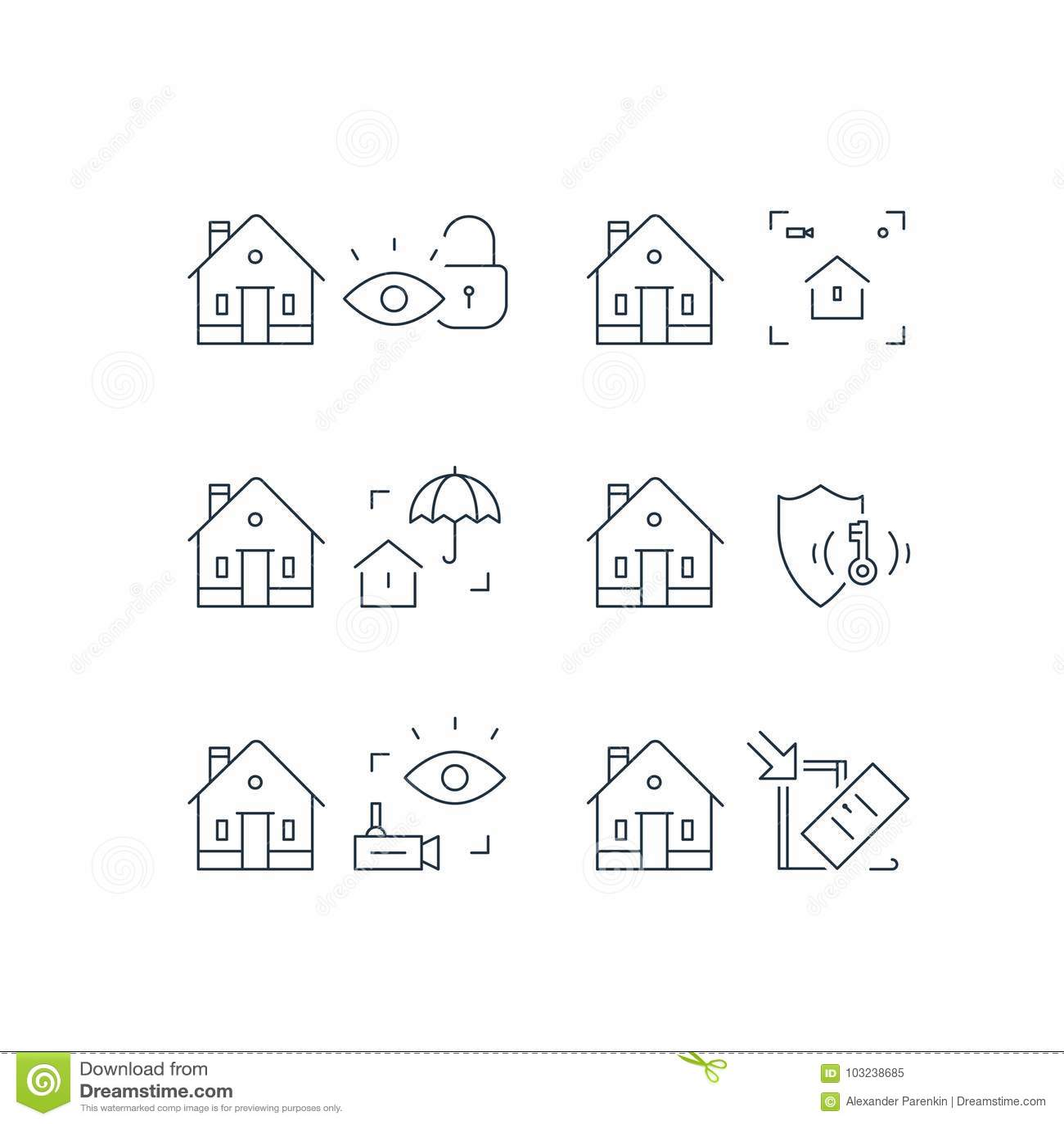 Contenga la vigilancia de la cámara de vídeo, sistema del guardia de la alarma, seguridad en el hogar, protección del robo, rotur