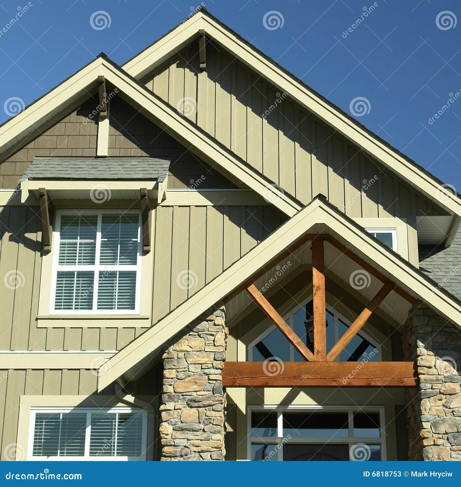 Contenga a los detalles exteriores caseros