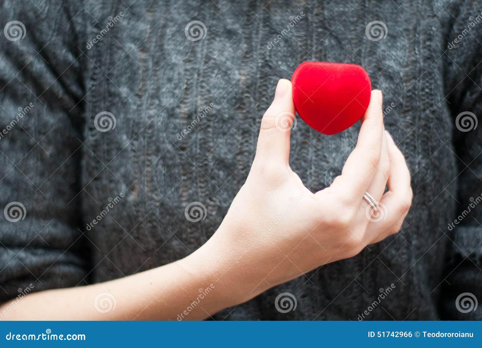 Contenitore di gioielli del cuore