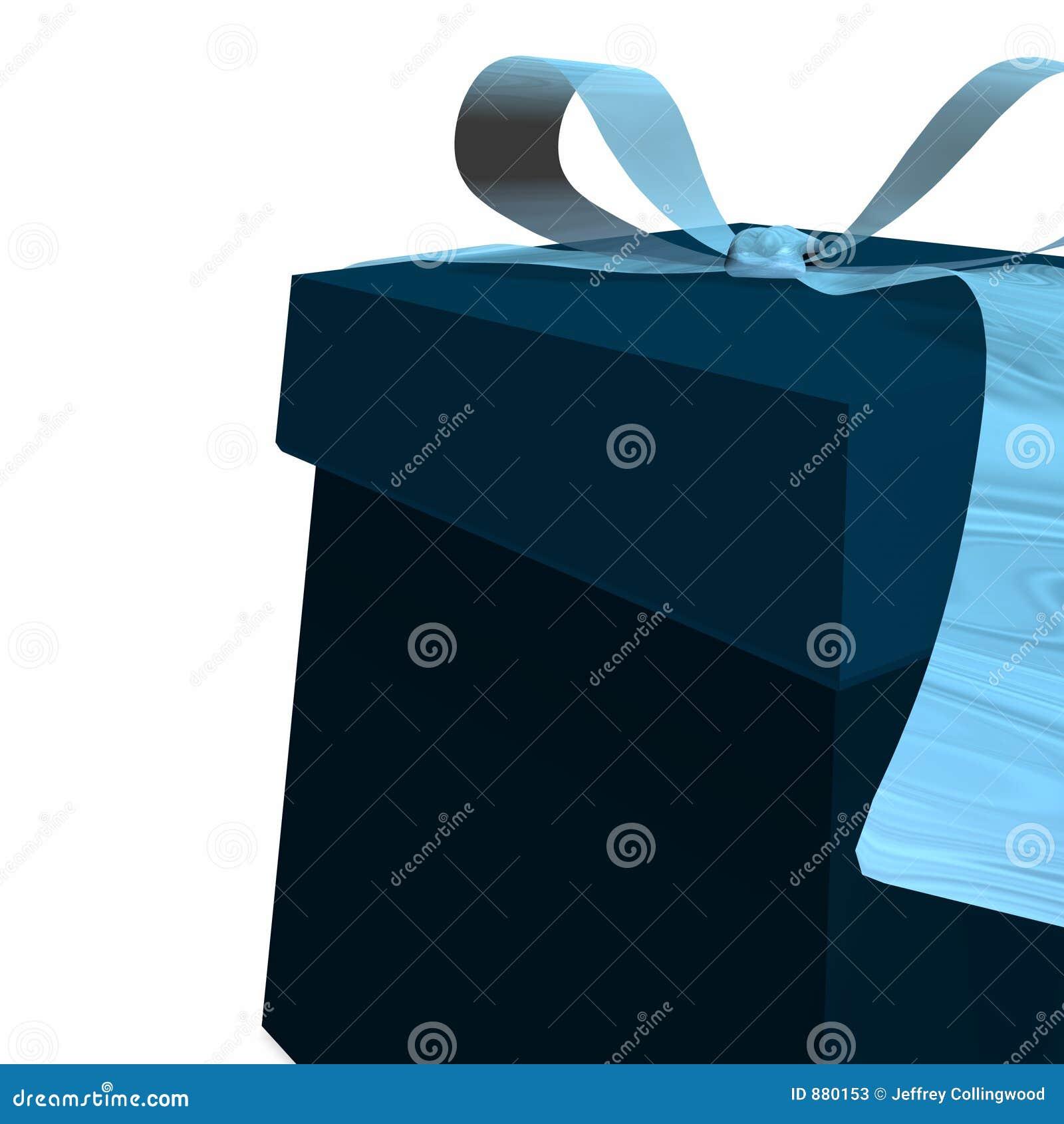 Contenitore di regalo blu
