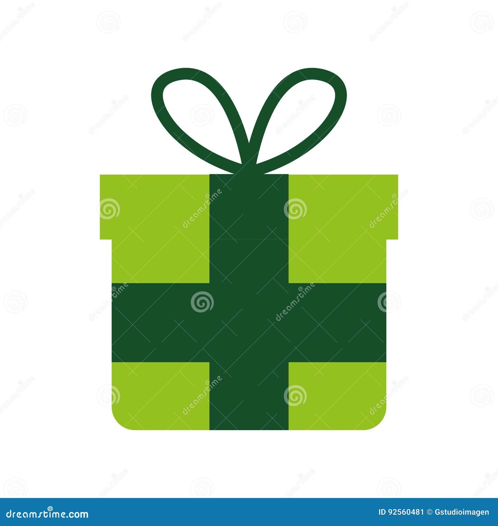 Contenitore di regalo con l icona del nastro