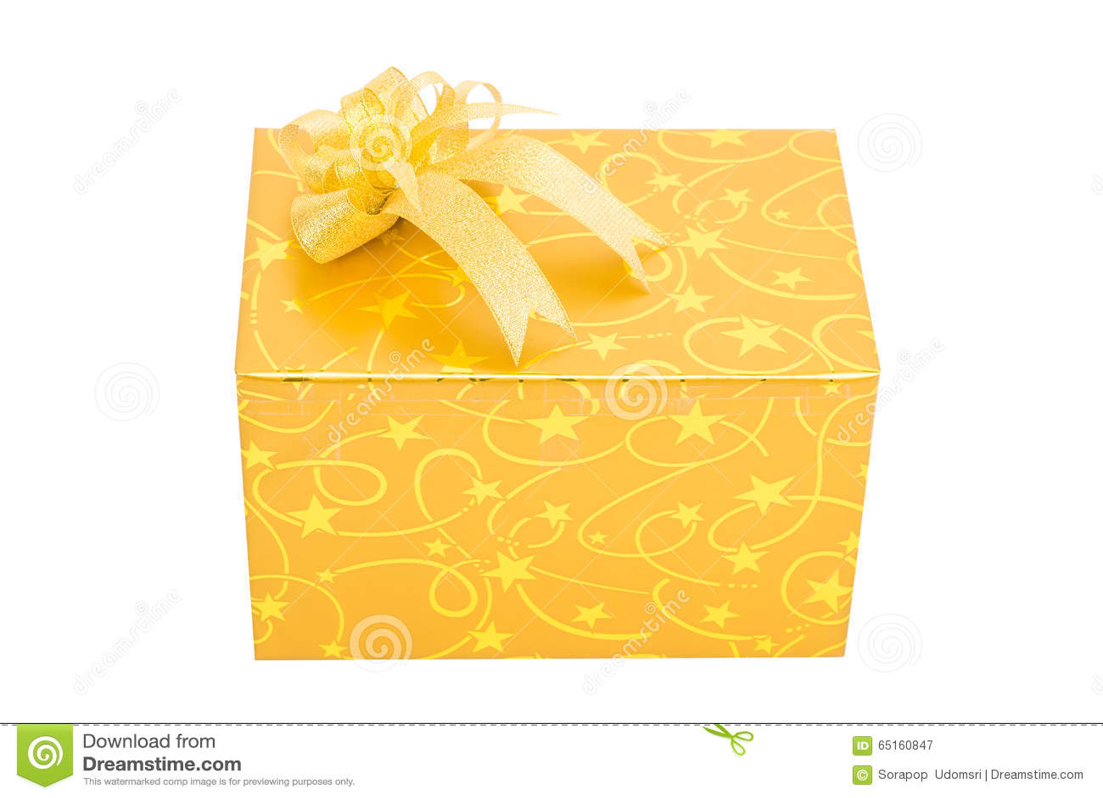 Contenitore di regalo dell oro con l isolato dell arco