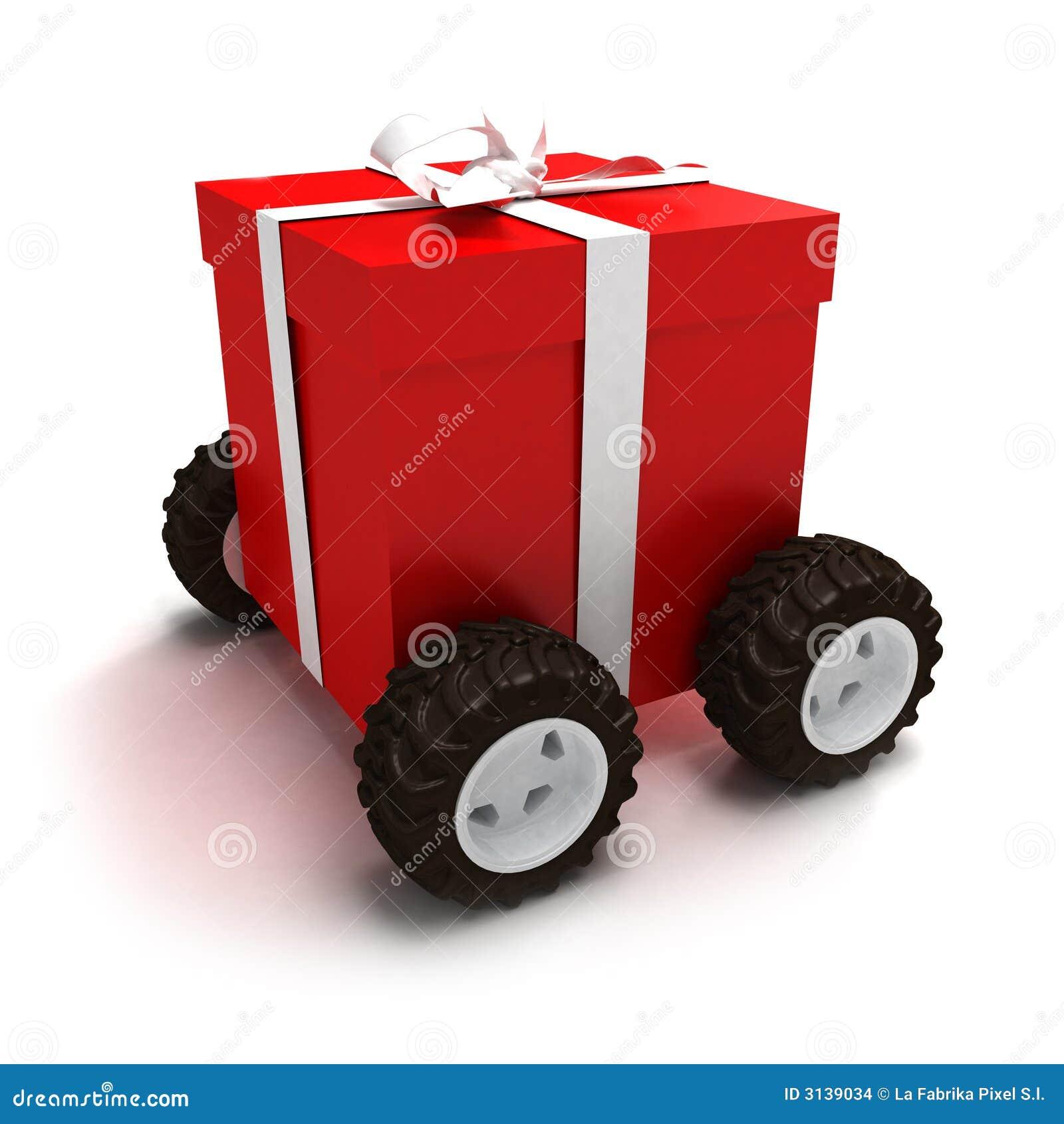 Contenitore di regalo motorizzato