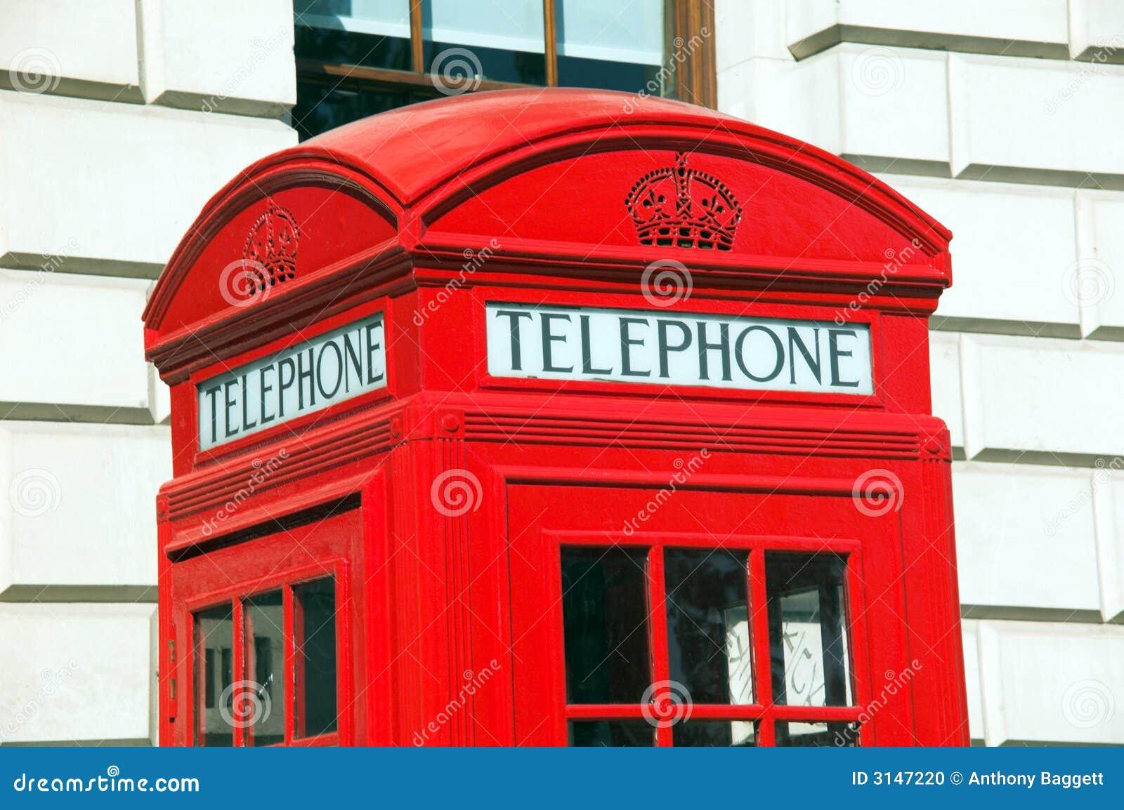 Contenitore di telefono rosso di Londra