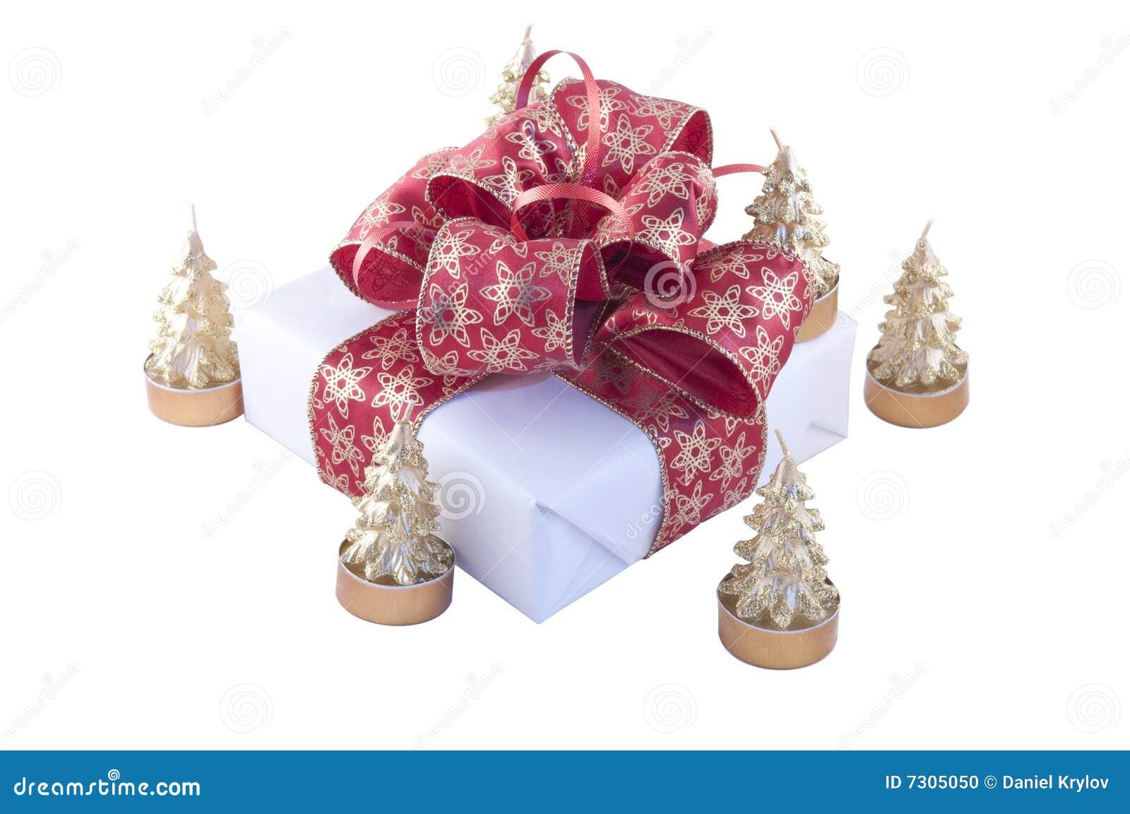 Contenitore e candele di regalo