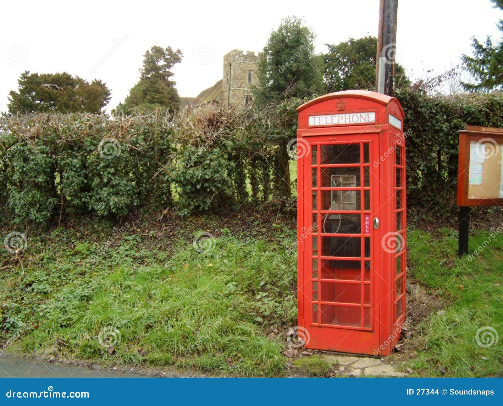 Contenitore inglese di telefono