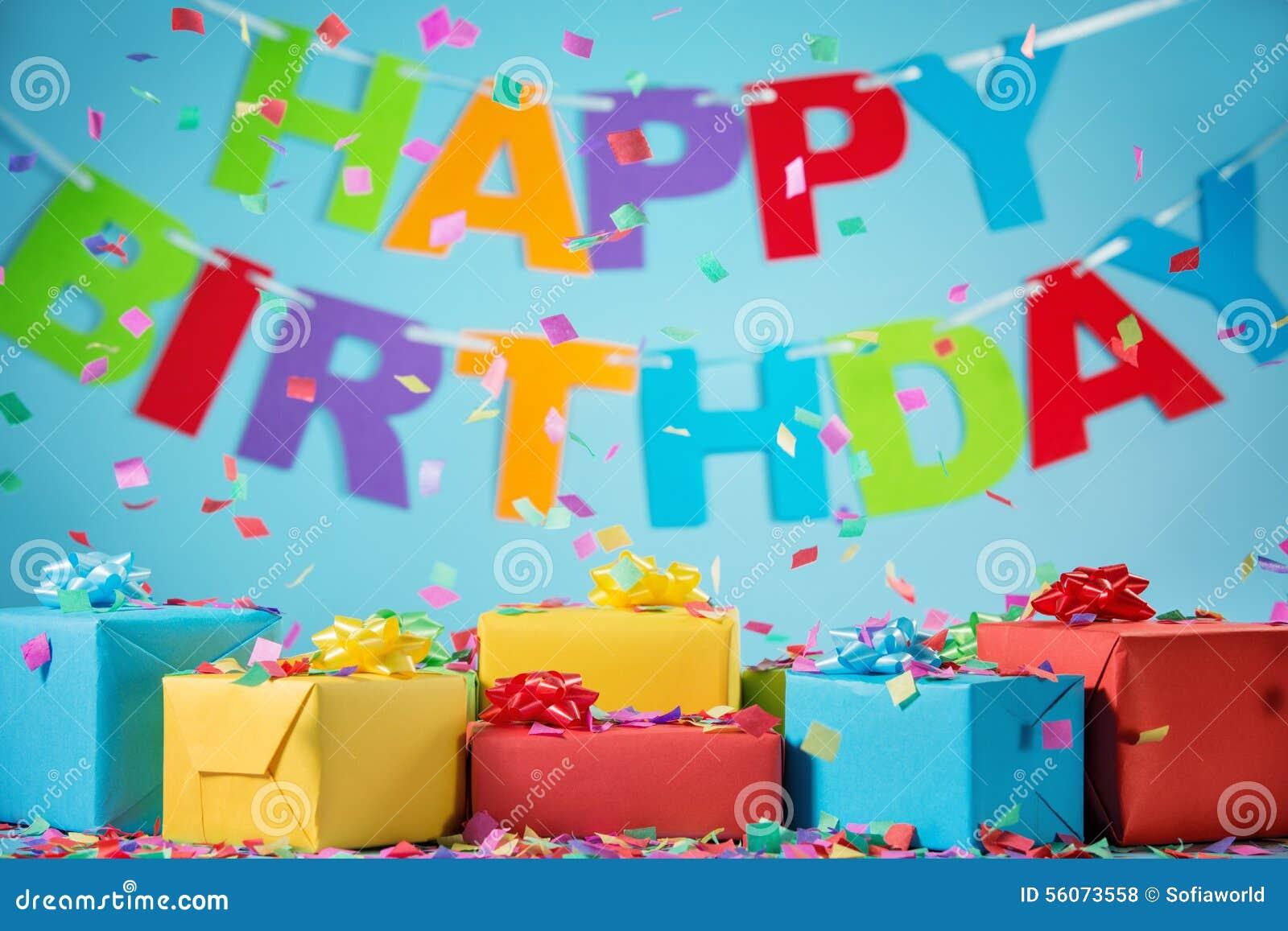 spesso Contenitori Di Regalo Di Compleanno Con I Coriandoli Di Carta  PK02