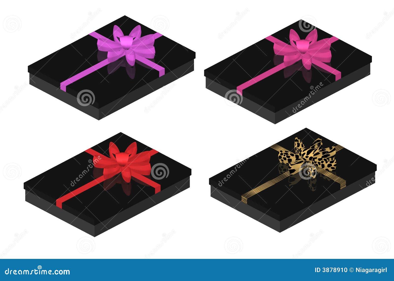 Contenitori di regalo neri sexy con gli archi