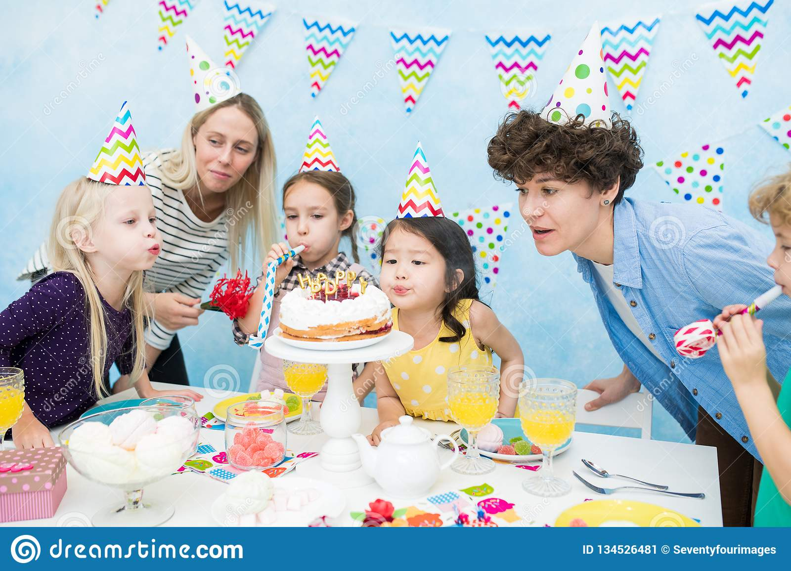 Celebrating kids birthday party