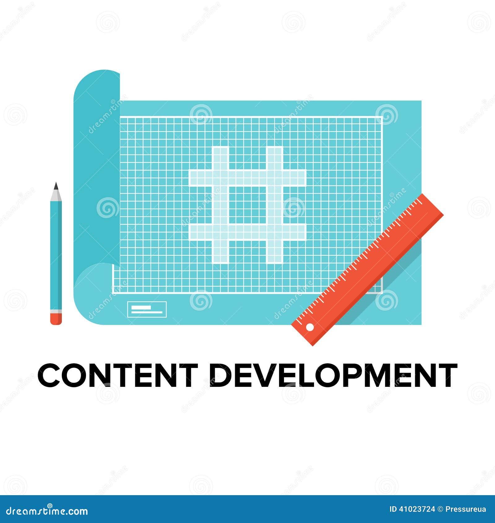 Content development flat illustration stock vector illustration of download content development flat illustration stock vector illustration of blueprint concept 41023724 malvernweather Images