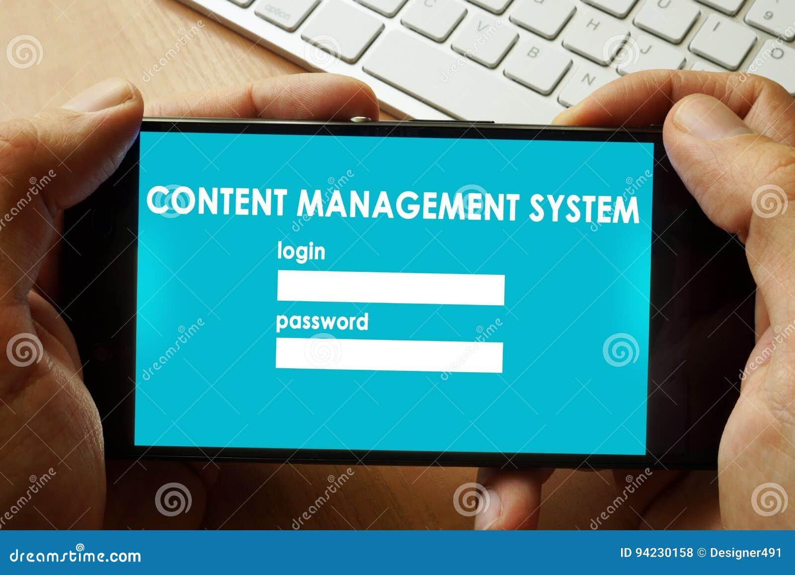 Content Management System CMS.