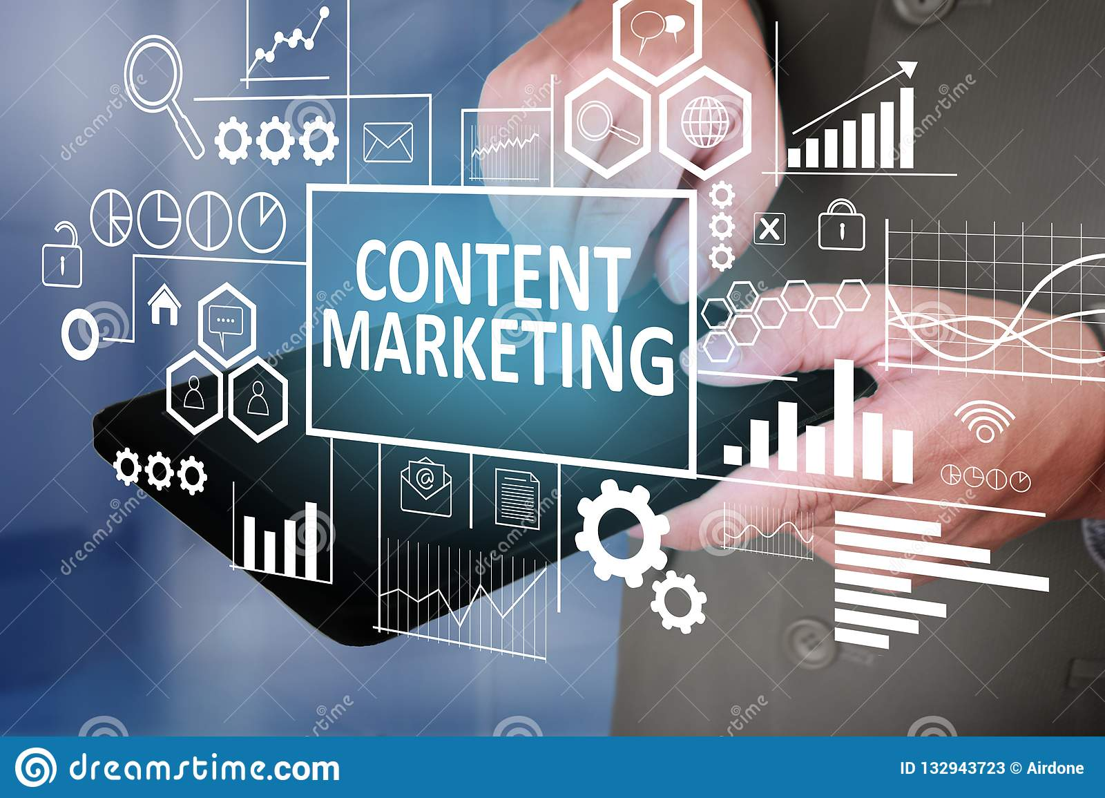 Content Marketing In Business Concept Stock Image