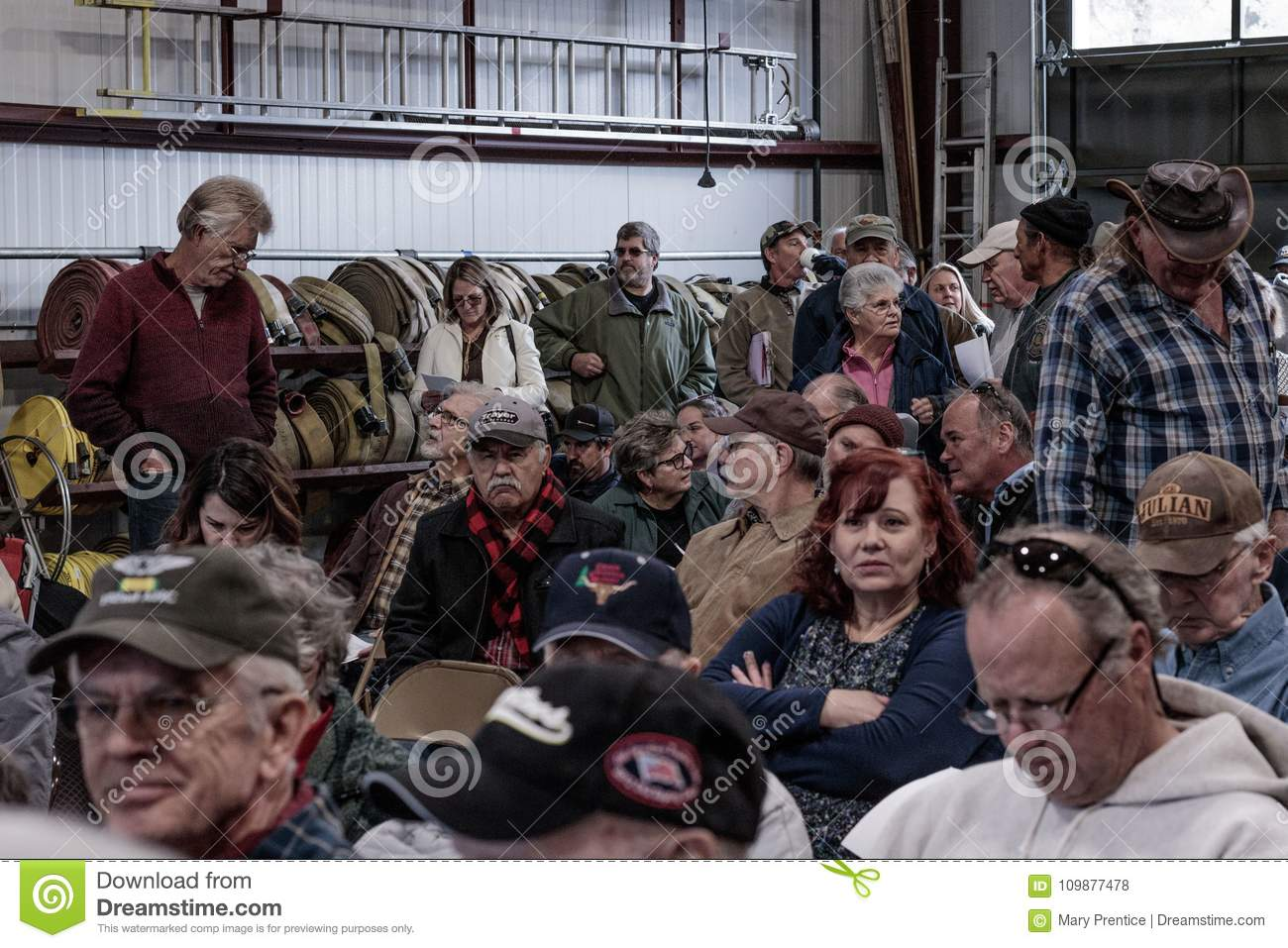 Contentious Meeting On 02-13-2018 In Small Rural Town Of