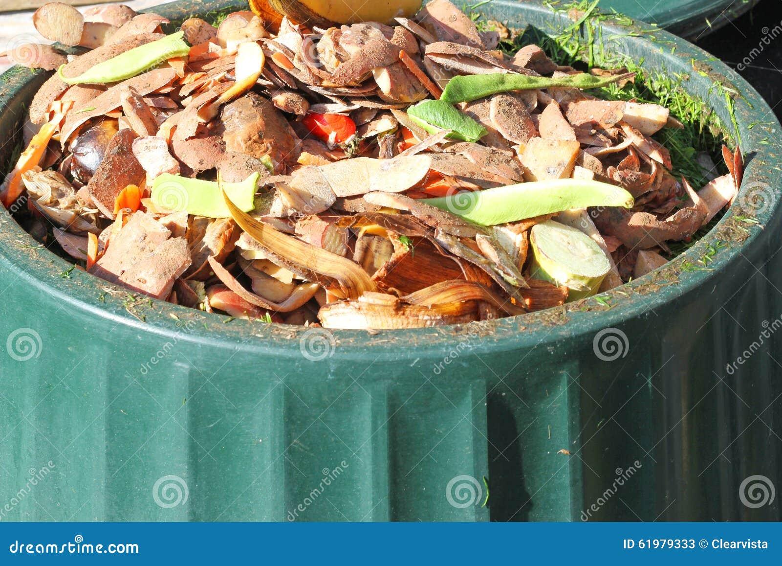 Contenu d 39 une poubelle de compost r utilisation des - Poubelle a compost d interieur ...
