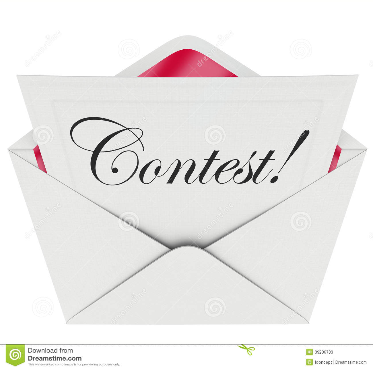 No Credit Check Credit Cards >> Contest Word Entry Form Letter Envelope Invitation to Play