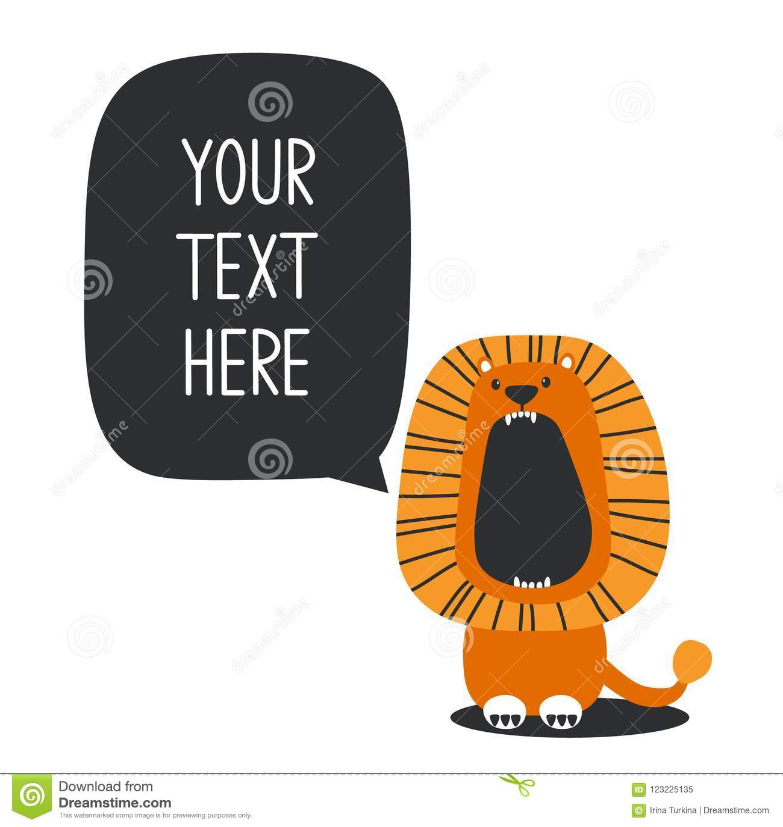 Contesto con il leone e posto per testo
