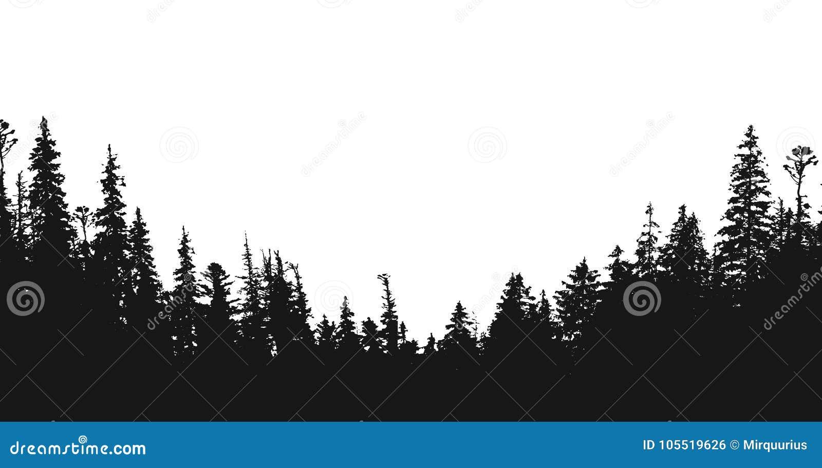 Contexto de la silueta del bosque