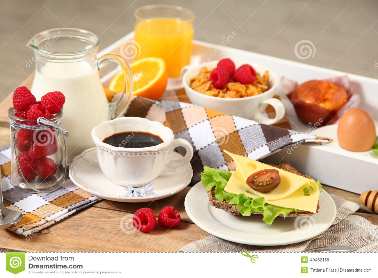 Continental Breakfast Stock Photo Image 49452158