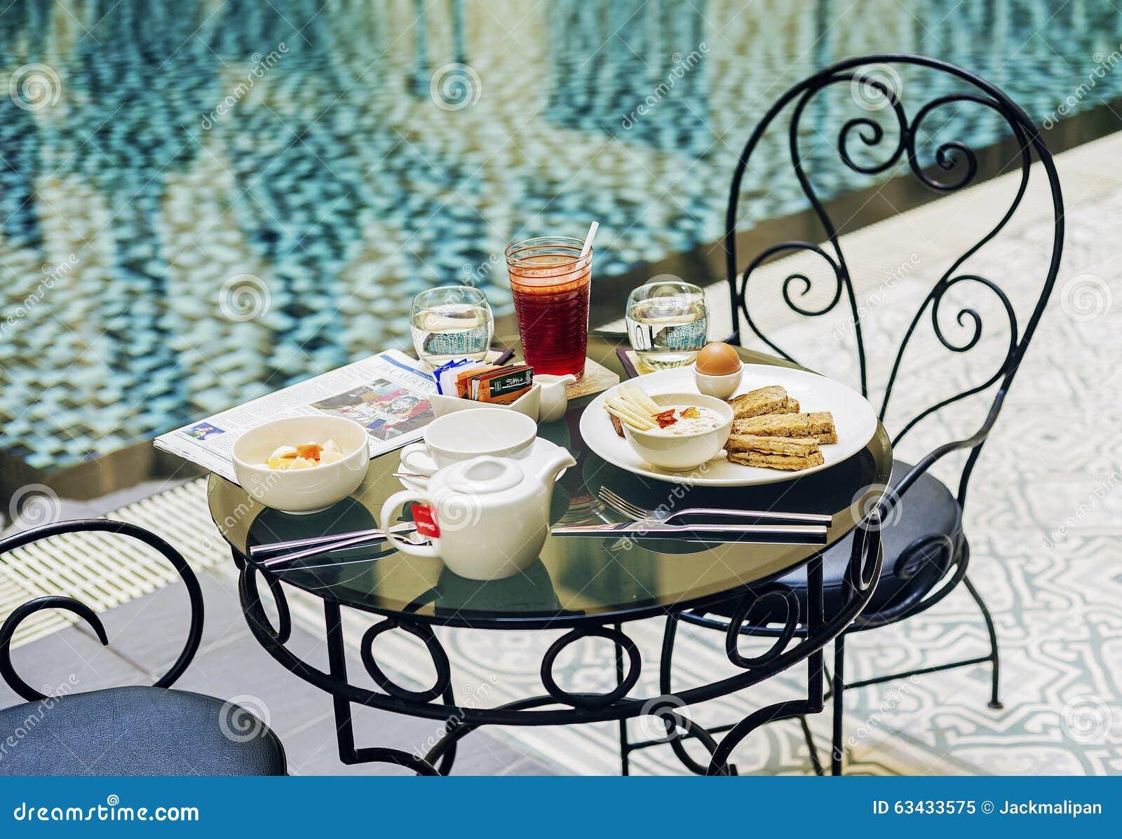 breakfast set editorial image 52325452. Black Bedroom Furniture Sets. Home Design Ideas