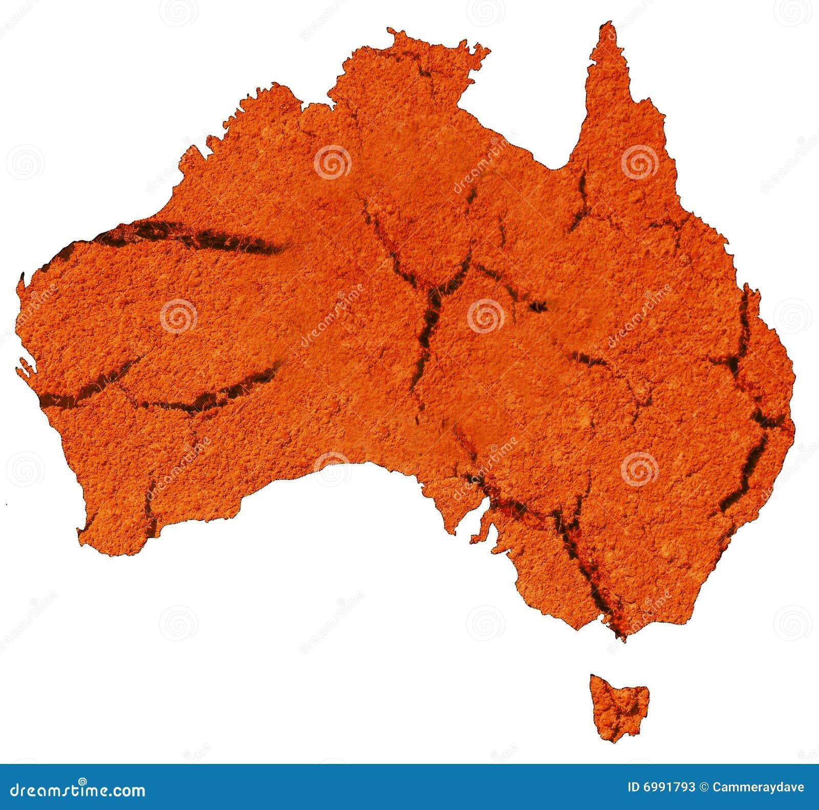 Continente australiano seco