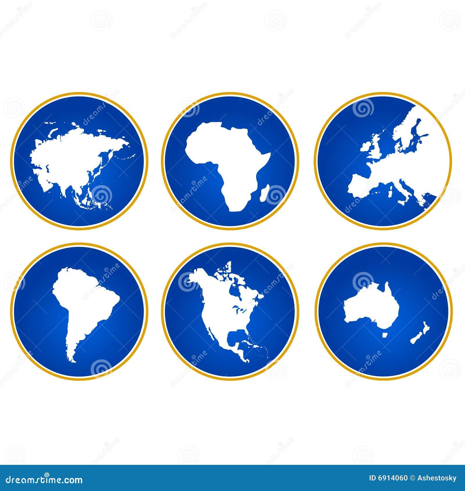 Continenten van de wereld stock foto afbeelding 6914060 - De thuisbasis van de wereld chesterfield ...