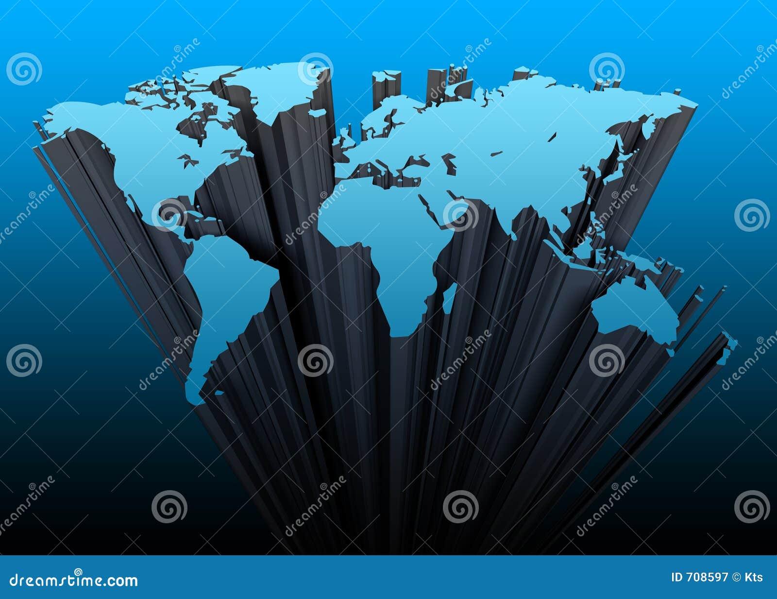 Continentes 3d