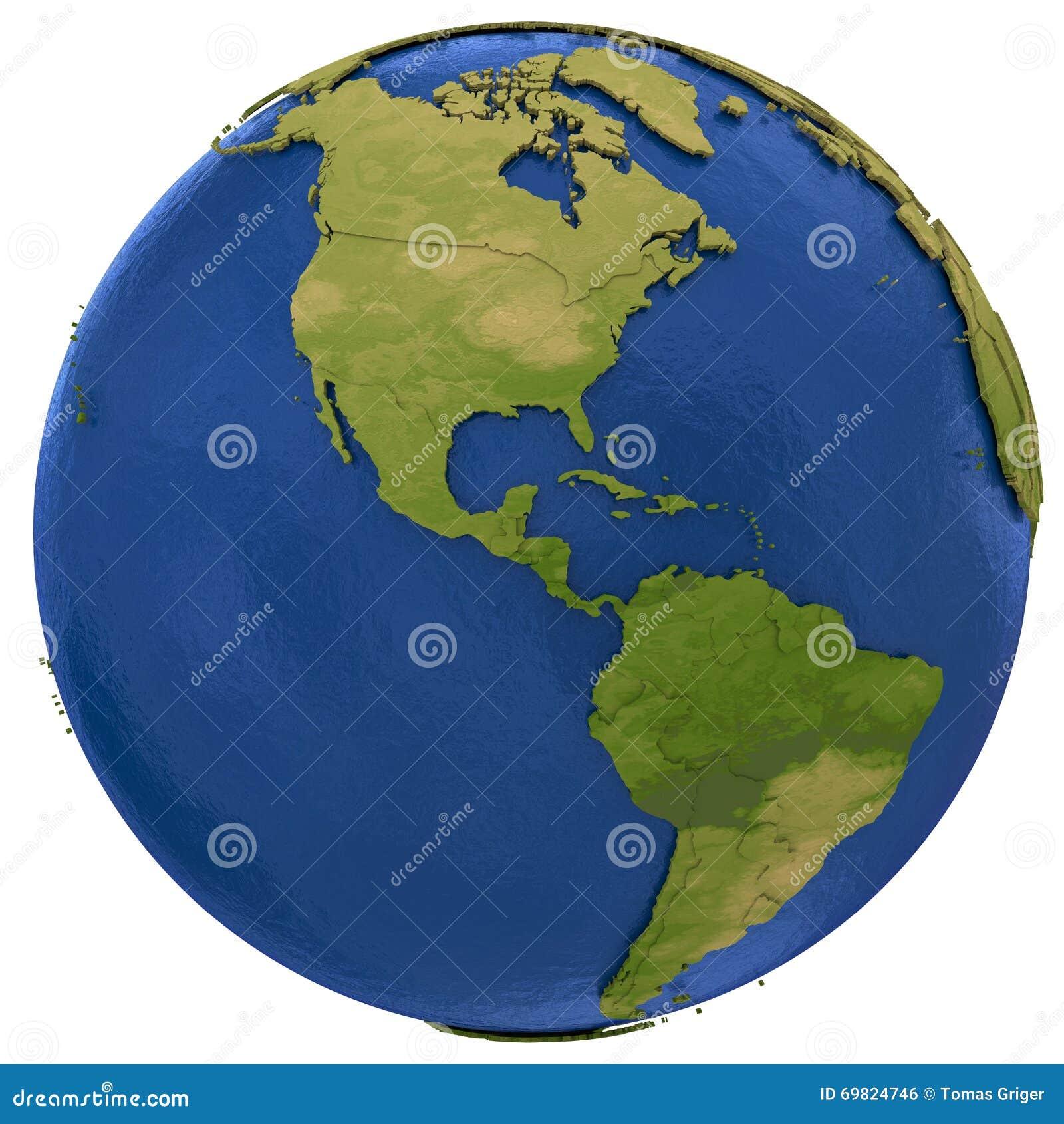 Continentes Americanos En La Tierra Stock De Ilustracion