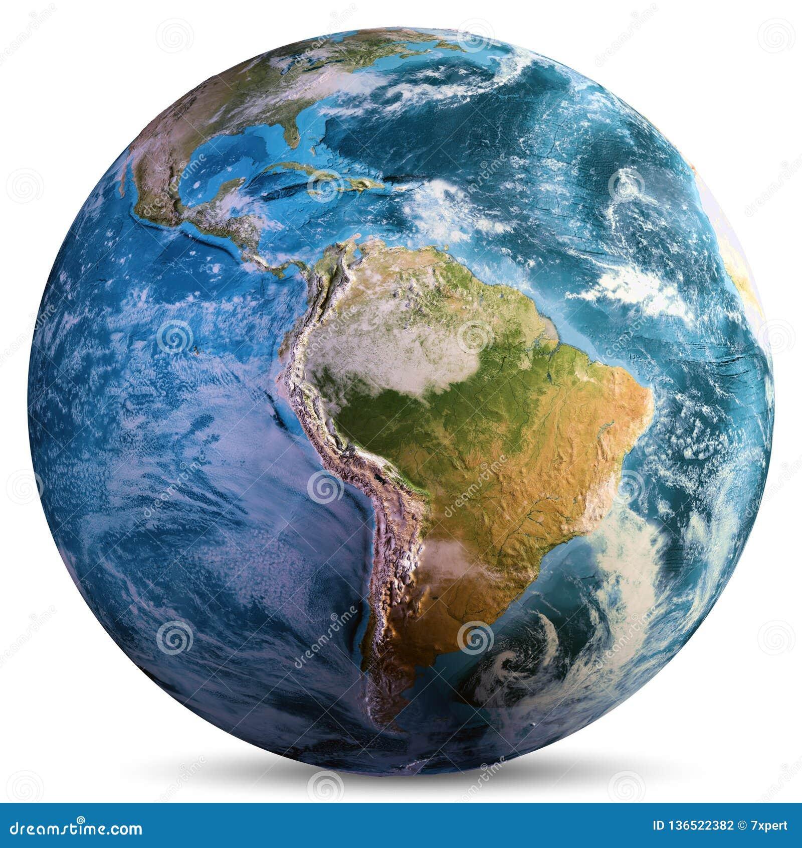 Continentes de la tierra del planeta