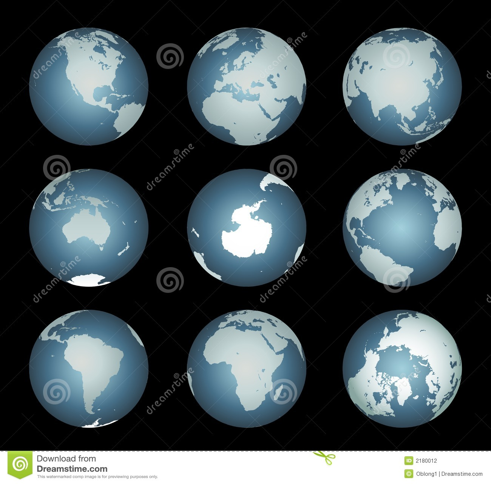 Continentes del mundo (vector también)