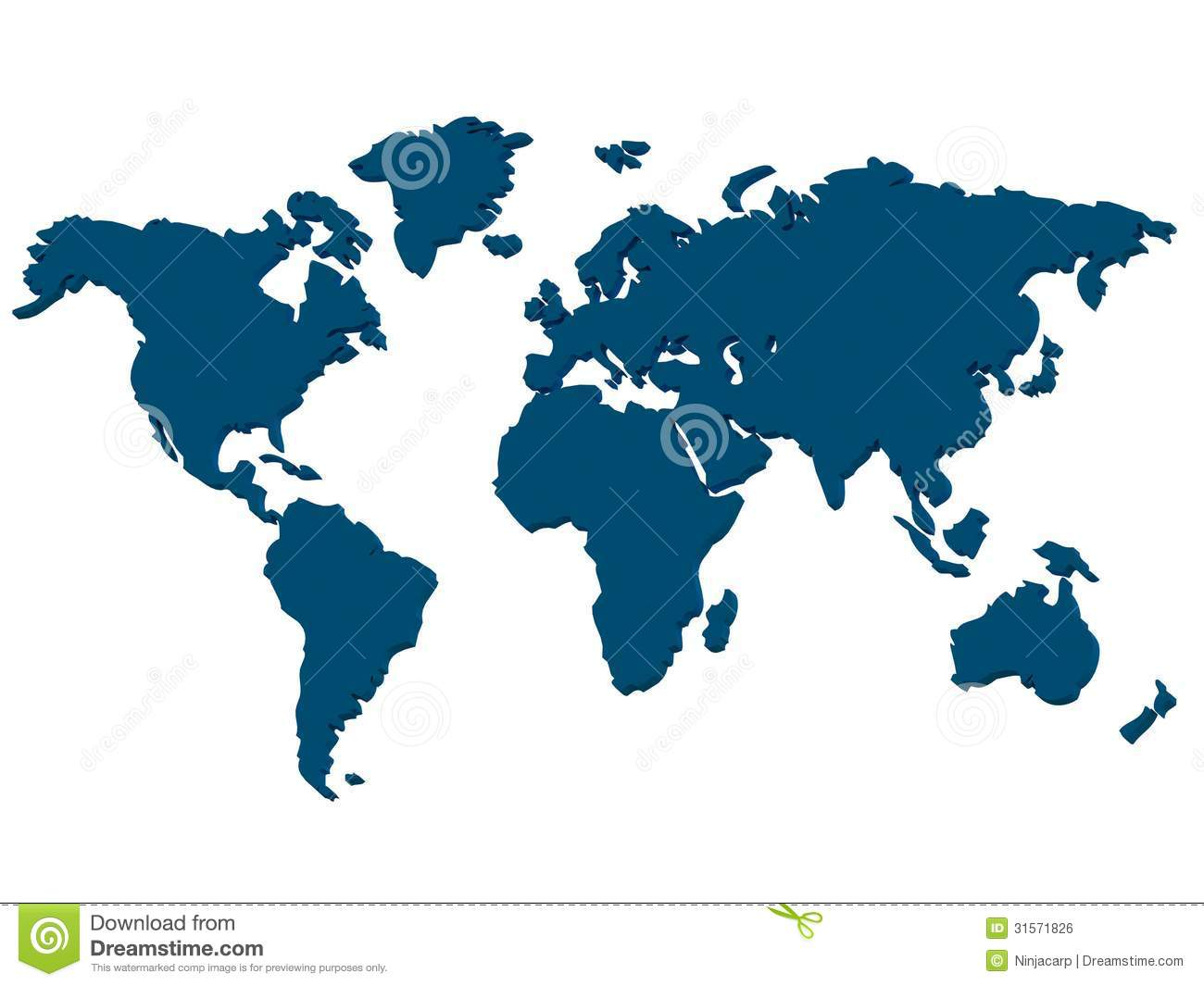 Continents Royalty Free Stock Image Image 31571826