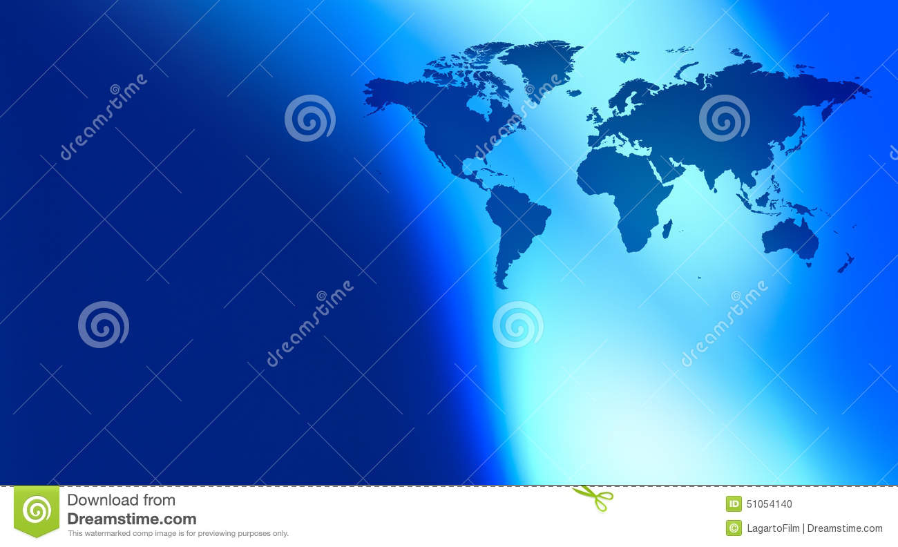 Continents World map and abstract background