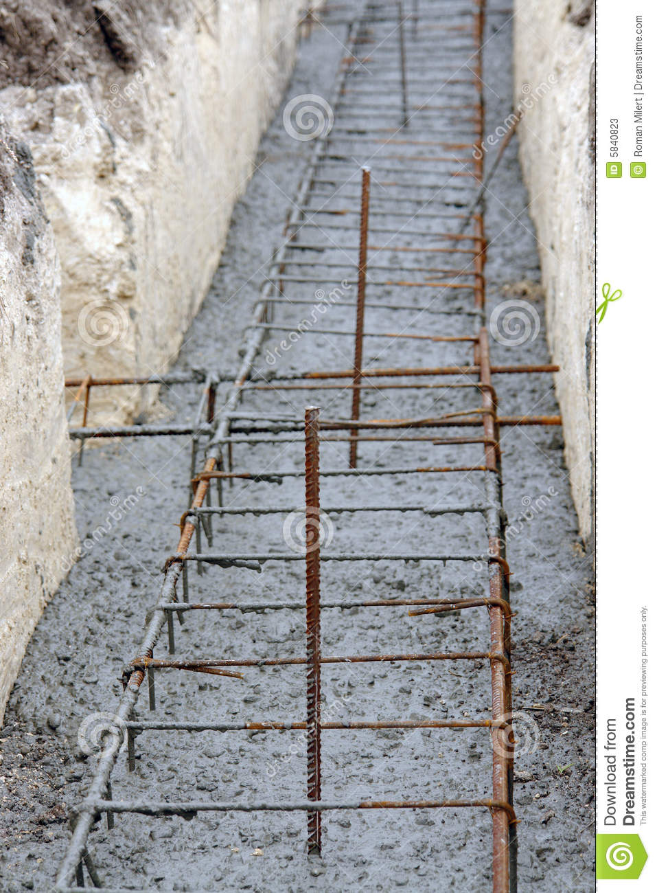 continuous footing foundation stock photos image 5840823