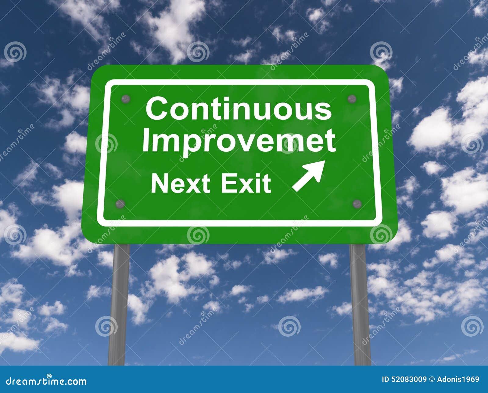 Continuous Improvement Next Exit Stock Photo Image