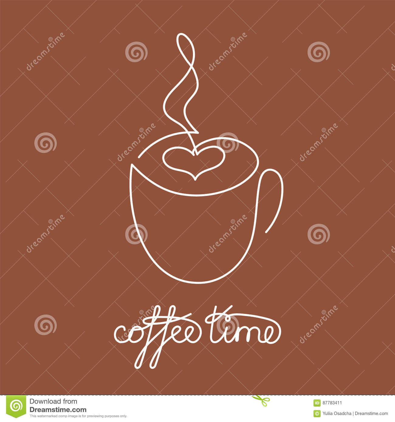 Vector Drawing Lines Xbox One : Coffee logo cup contour line drawing vector illustration