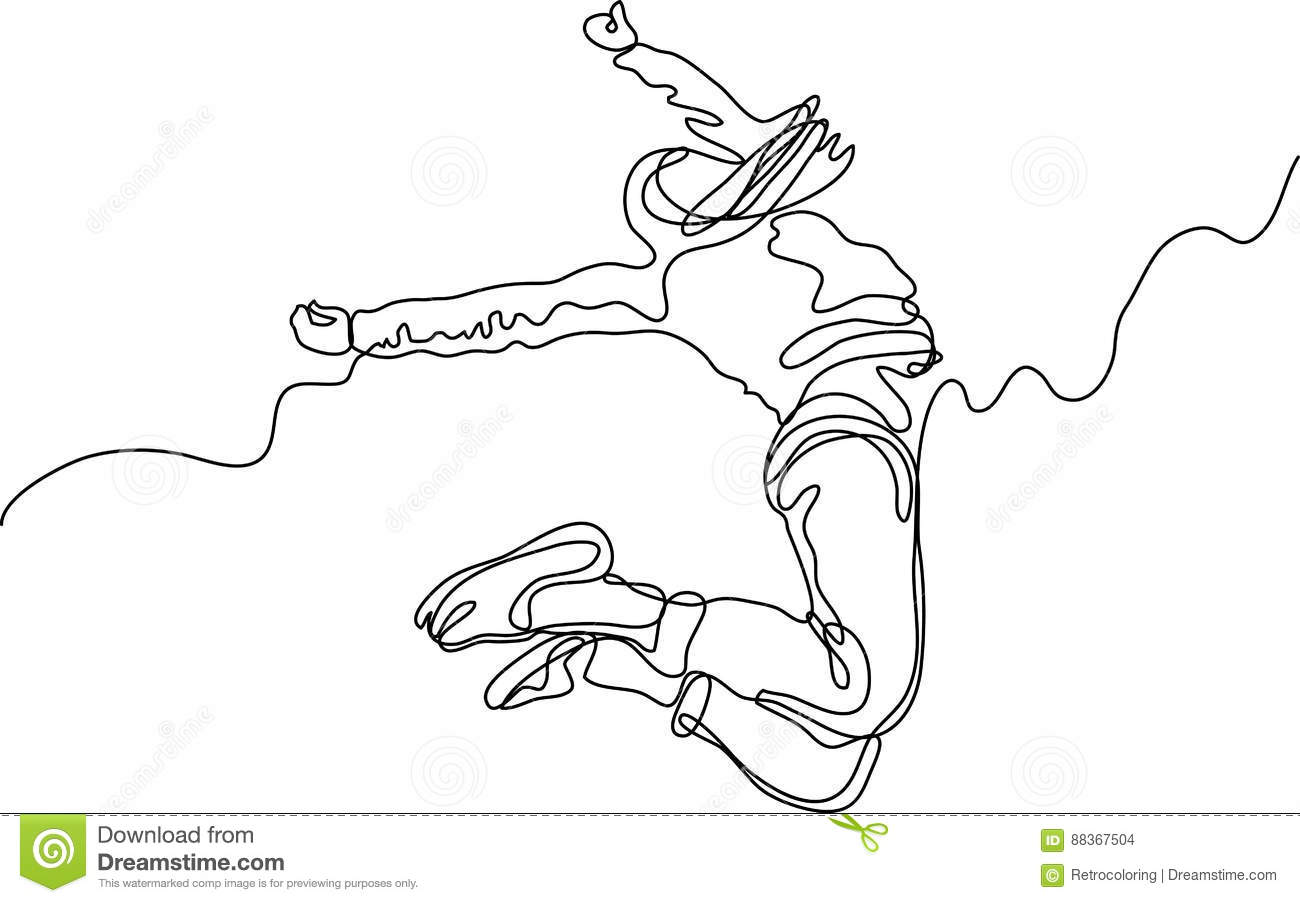 Line Art Person : Handshake of man and woman vector drawing cartoon