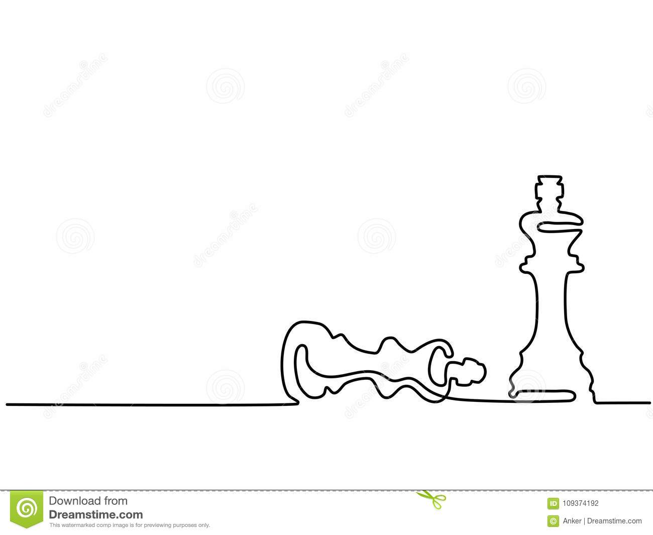 Chess Pieces Queen And King Stock Vector Illustration Of Modern