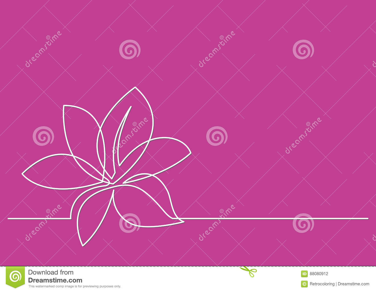 Line Drawing Flower Images : Continuous line drawing of flower stock vector illustration