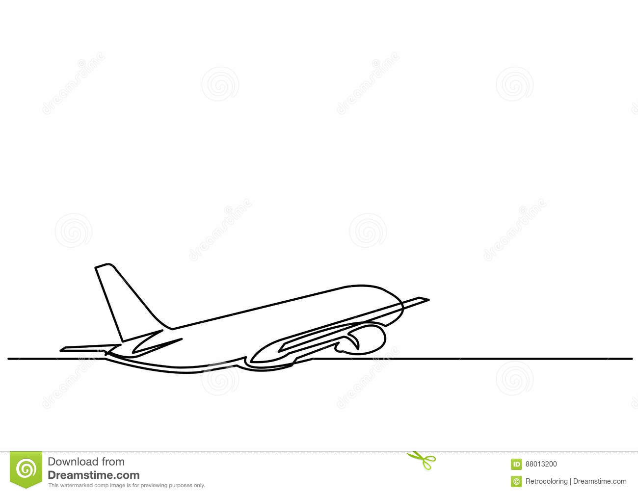 Continuous line drawing isolated layered easy edit vector illustration in eps10 format