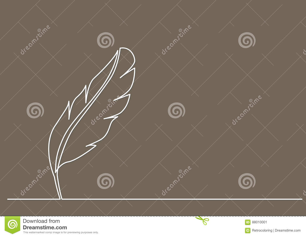 Line Drawing Of Quill : Fine line u black white on behance